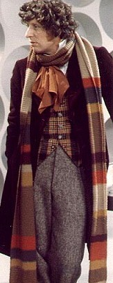 Tom Baker as the Fourth Doctor