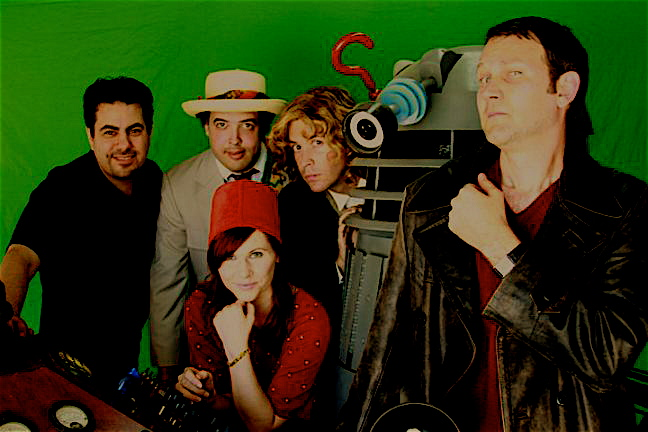 Paul Salamoff, Bob Mitsch, Athena Stamos, CJ DeAngelus, Dalek Pete, Kevin Kittridge.  Funnily enough, Mitsch doesn't actually play the 7th Doctor in the short, but brought his costume to get some shots of 7 and 8 at the Console.